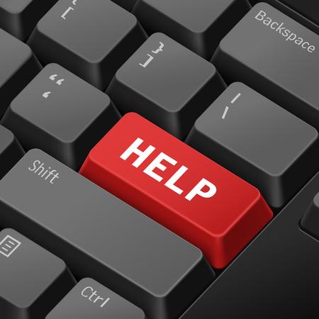 tecla enter: mensaje en el teclado 3d ilustración tecla enter para los conceptos de ayuda Vectores