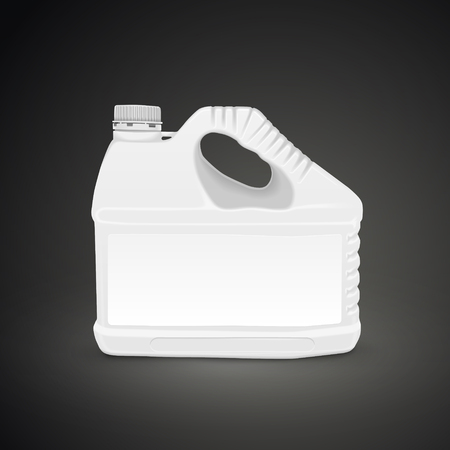 machine oil: machine oil canister isolated on black background. 3D illustration.