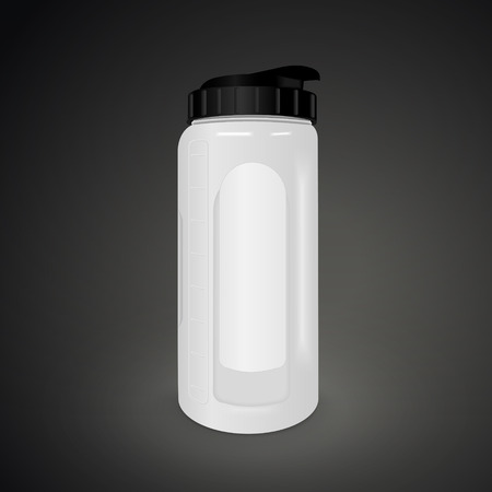 reusable: reusable water bottle isolated on black background. 3D illustration.