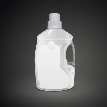 close up food: cooking oil plastic bottle isolated on black background. 3D illustration.