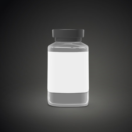 empty jar: empty jar with label isolated on black background. 3D illustration.