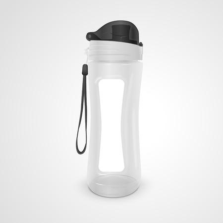 reusable water bottle isolated on white background. 3D illustration.