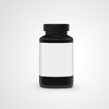 empty jar: empty jar with label isolated on white background. 3D illustration.