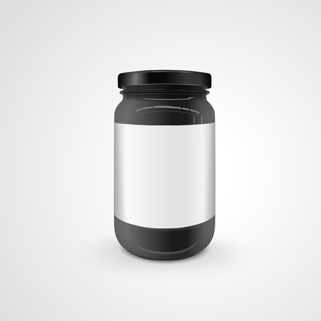 preservation: empty glass jar isolated on white background. 3D illustration. Illustration