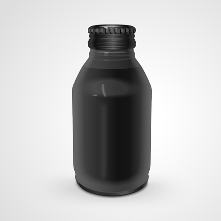 exquisite glass bottle isolated on white background. 3D illustration.