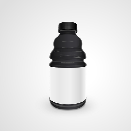 discard: exquisite plastic bottle isolated on white background. 3D illustration.