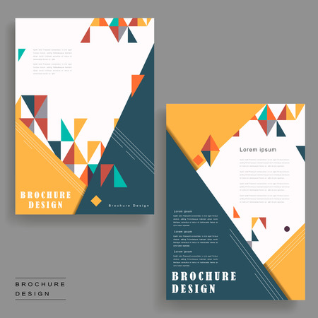 intro: cheerful brochure template design with triangles element