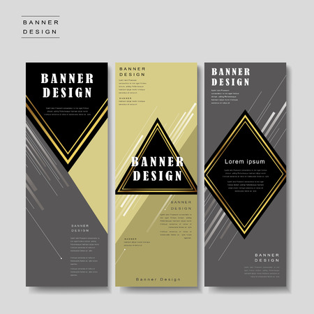 diamond shape: elegant banner template design with triangle and rhombus elements