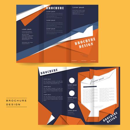 intro: tri-fold brochure template design in origami style