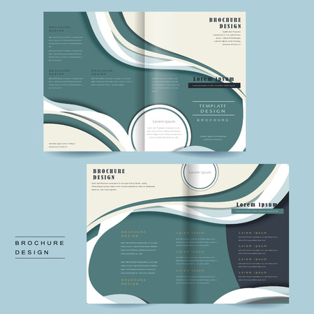 intro: bi-fold brochure template with streamline design in blue and white