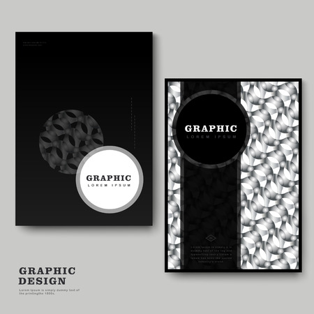repetitive: abstract brochure template design with repetitive geometric element