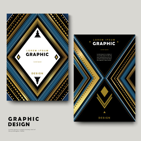 intro: classic brochure template design with ethnic patterns