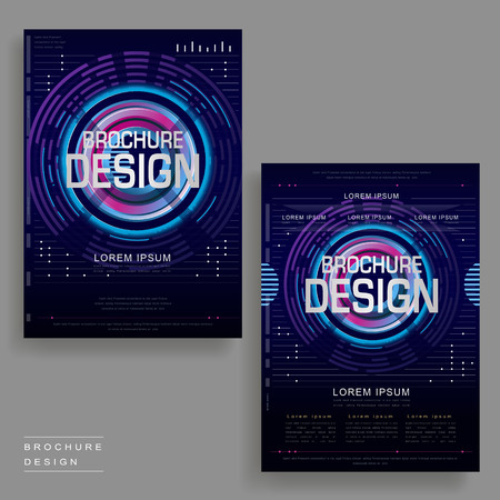 intro: futuristic brochure template design in digital style