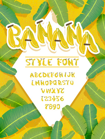 lively: lively banana font design - letters and numbers included