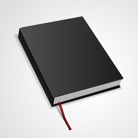 hardcover: hardcover blank book isolated on white background. 3D illustration. Illustration
