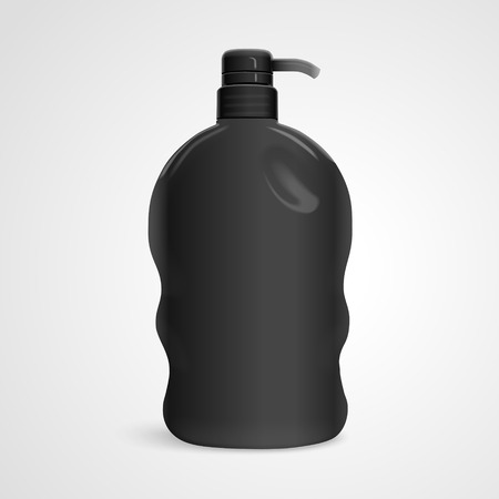 bodycare: blank body care bottle isolated on white background. 3D illustration.