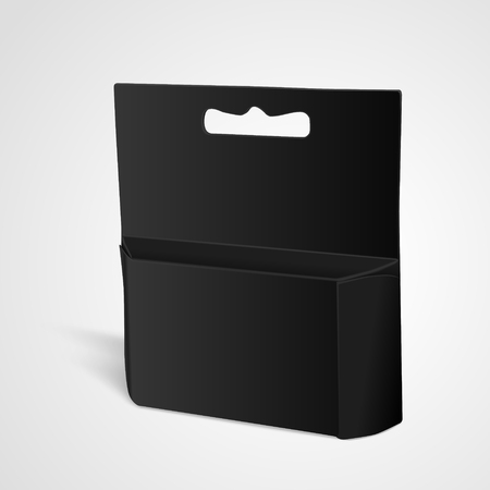 apertures: blank paper package isolated on white background. 3D illustration. Illustration