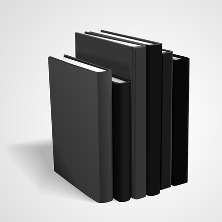 hardcover: hardcover blank books isolated on white background. 3D illustration.