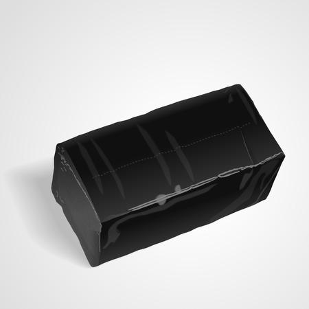 tissues: pack of tissue paper isolated on white background. 3D illustration. Illustration