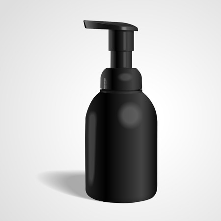 cosmetic bottle: blank cosmetic bottle isolated on white background. 3D illustration.
