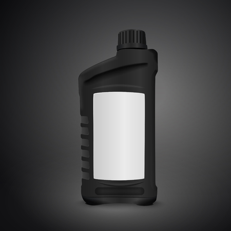 lubricant: machine oil canister isolated on black background. 3D illustration.