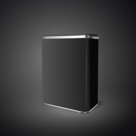 aluminum can: blank aluminum can isolated on black background. 3D illustration.