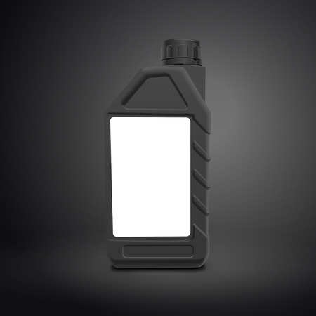 canister: machine oil canister isolated on black background. 3D illustration.