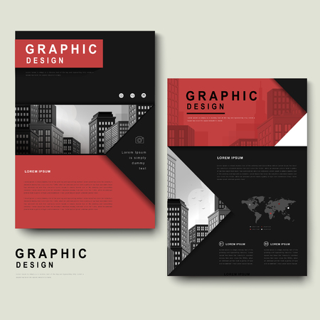 Contemporary Brochure Template Design With City Landscape And