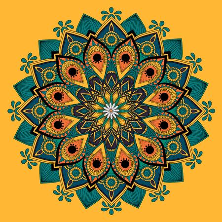 ritual: Decorative Mandala ornament, attractive floral design for coloring page