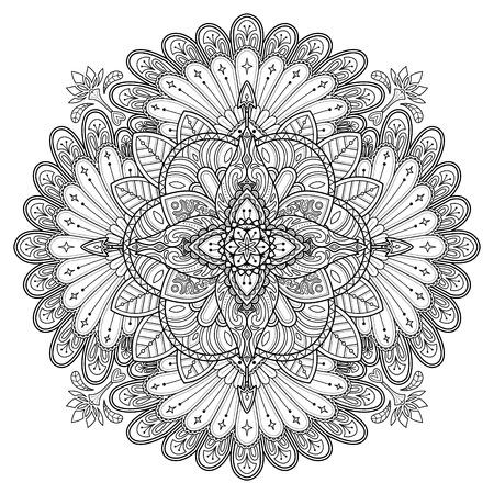 Mandala Ornamento Decorativo, Hermoso Diseño Floral De Color Para ...