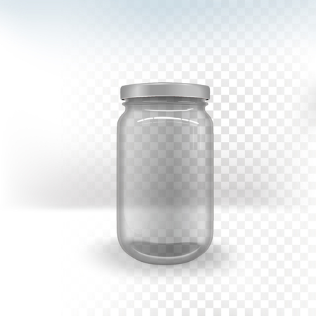 empty glass jar isolated on transparent background Illustration