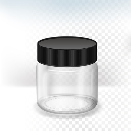 blank translucent canister isolated, on transparent background, 3D illustration