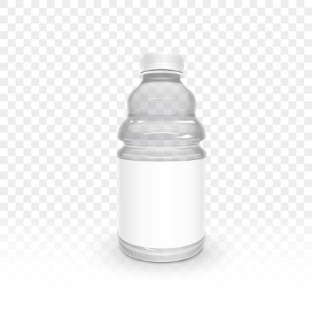 plastic bottle: exquisite plastic bottle isolated on transparent background, 3D illustration