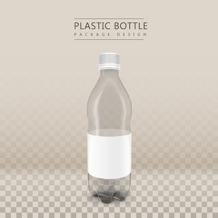 blank label: plastic beverage bottle with blank label isolated on transparent background