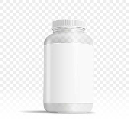 透明な背景、3 D イラストレーションで隔離薬ボックス テンプレート  イラスト・ベクター素材