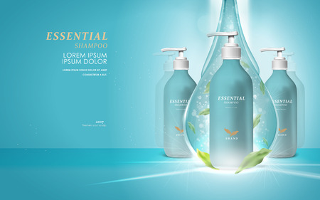 facial cleaner blank package model, 3d illustration for ads or magazine  イラスト・ベクター素材