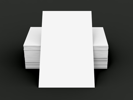 Stack of business card template blank unfilled card for edited stack of business card template blank unfilled card for edited isolated on black background photo flashek
