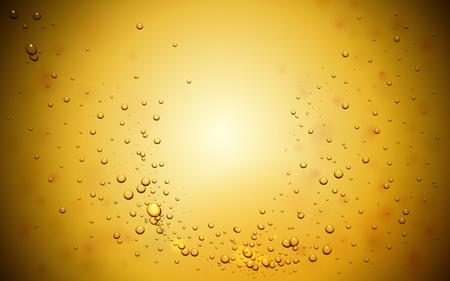 Abstract background with bubbles in yellow tone, 3d illustration Illustration