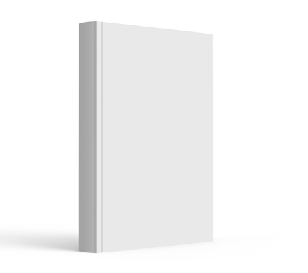 blank hard cover book template blank book cover for design isolated