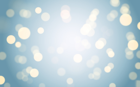 defocus: Blue bokeh background, abstract glitter particles with defocus effect Illustration