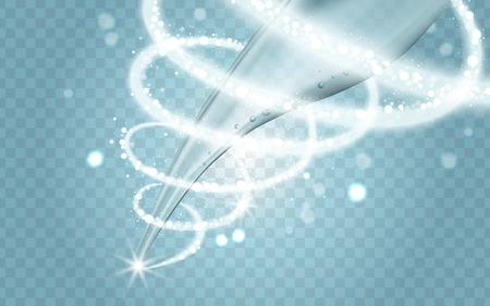 물 흐름과 사이클론 특수 효과, 투명한 배경