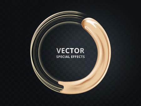 Grundlagencremebeschaffenheit, kosmetische Basis lokalisiert auf transparentem Hintergrund in der Illustration 3d Vektorgrafik