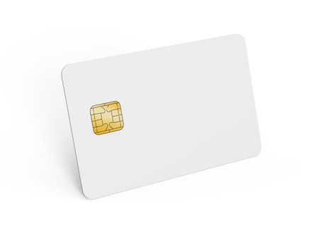 Blank credit card template, empty chip card for design in 3d rendering isolated on white background Stock Photo - 73372713