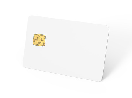 blank credit card template empty chip card for design in 3d stock