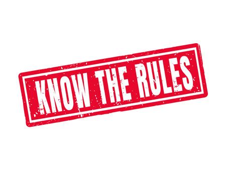 빨간 우표 작풍에있는 규칙을 아십시오 일러스트