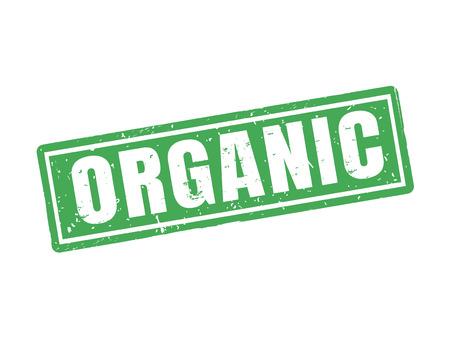 Organisch in groene zegelstijl, witte achtergrond Stock Illustratie