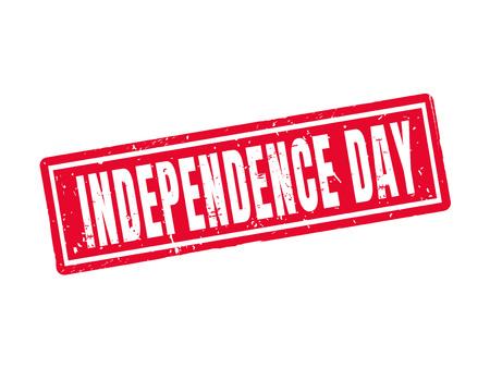 빨간 스탬프 스타일의 독립 기념일