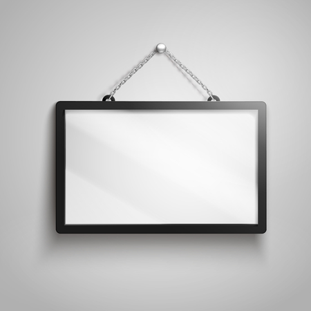 Hanging sign with no words, 3d illustration