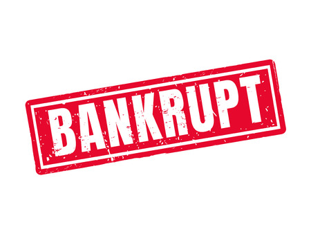 Bankrupt in red stamp style