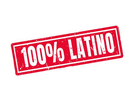 100% 赤でラテン系スタンプ スタイル  イラスト・ベクター素材